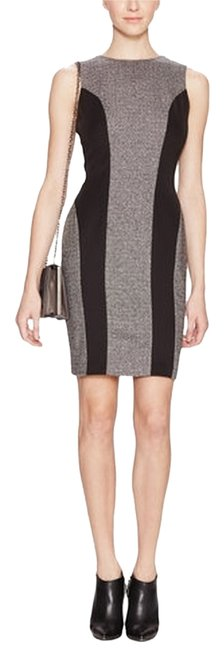 Preload https://item1.tradesy.com/images/susana-monaco-grey-and-black-shennel-wool-contrast-panel-bodycon-above-knee-workoffice-dress-size-8--1666025-0-0.jpg?width=400&height=650