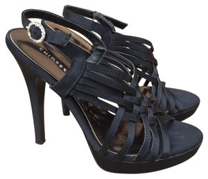 Chinese Laundry Satin Strappy Formal Evening Black Sandals