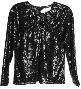 Chanel Sequin Top Black