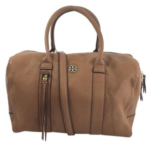 Tory Burch Crossbody Leather Brody Satchel in Bark