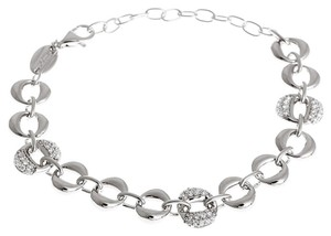 Fossil Fossil .925 Sterling Silver Pave Zirconia Crystal Bracelet JF16634040