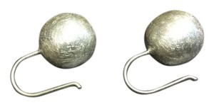 Other Brush Ball .925 Sterling Silver French Hook Earrings
