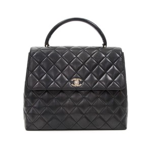 Chanel Vintage Kelly Kelly Satchel in Black