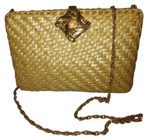 Rodo Wicker Clutch Cross Body Bag