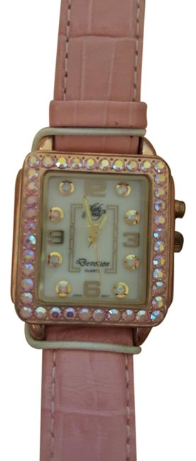 Item - Pink With Crystal Face Watch