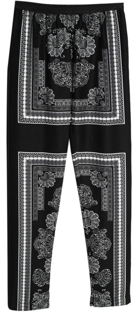 Item - Black and White Scarf Print Michael Paisley - Small Pants Size 4 (S, 27)