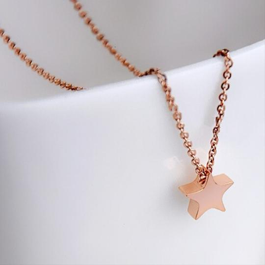Other Mini Star Necklace 18k Rose Gold