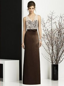 After Six Chocolate Brown Espresso Skirt Formal Bridesmaid/Mob Dress Size 4 (S)