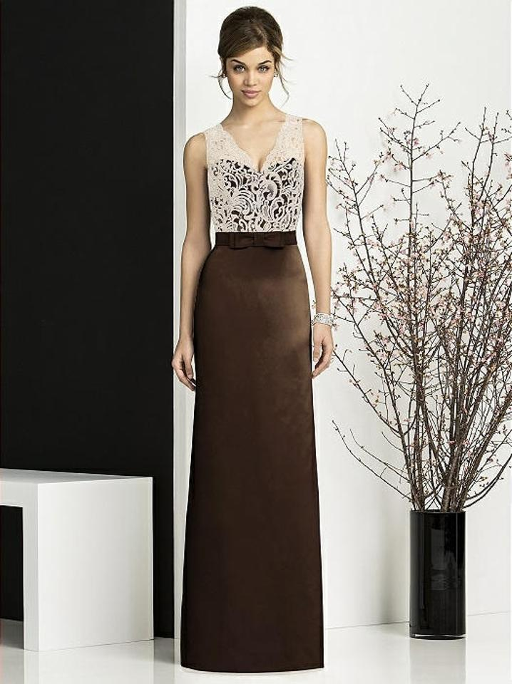 After Six Chocolate Brown Espresso Skirt Formal Bridesmaidmob Dress