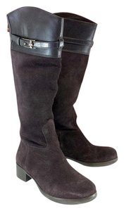 Tory Burch Brown Suede Leather Riding Boots