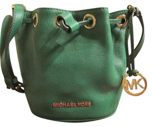 Michael Kors Satchel in GREEN LEATHER