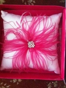 Pink and White Ring Bearer Pillow Gift Card Box