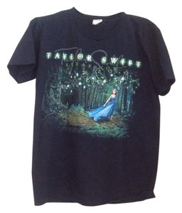 Gildan Taylor Swift Speak Now Tour Band T Shirt Black multi