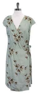 Hoss intropia short dress Aquamarine Fish Print Silk Wrap on Tradesy