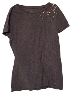 American Eagle Outfitters T Shirt Gray with Bronze sequins