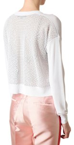 Alexander Wang Lace Cropped Cropped Sweater