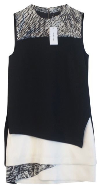 Helmut Lang short dress Black / White Layered Printed on Tradesy
