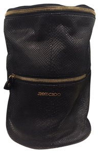 Jimmy Choo Leather Python Bucket Shoulder Bag