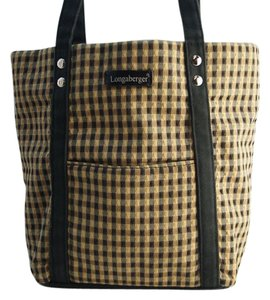 Longaberger Tote in Black Brown