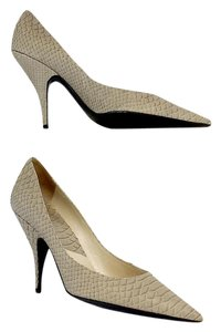 Dior Beige Snakeskin Leather Pointed Toe Pumps