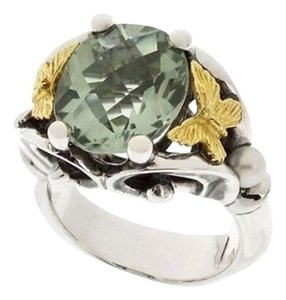 Ann King Ann King Sterling Silver & 18k Paradise Green Quartz Ring