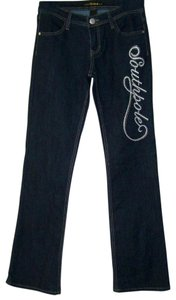 South Pole Collection Boot Cut Jeans-Dark Rinse