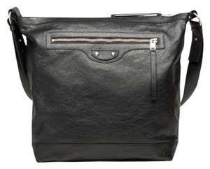 Balenciaga Mens Leather Designer Luxury Black Messenger Bag