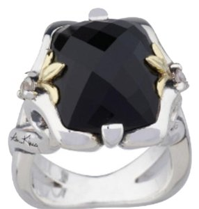 Ann King Ann King Sterling Silver & 18kt Gold Black Onyx Ring