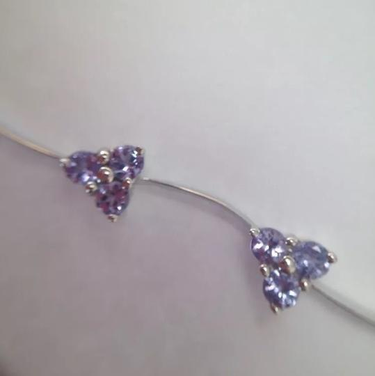 """Other Real Tanzanite Solid White Gold 7"""" Bracelet"""