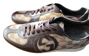 Gucci Sneakers Logo Monogram Brown Athletic