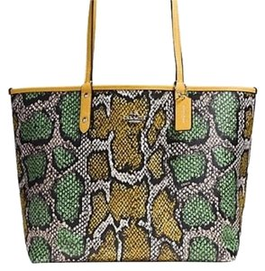 Coach Tote in Multicolor / Canary Yellow