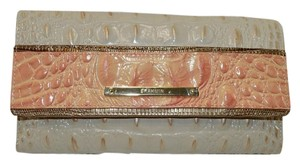 Brahmin Checkbook Melbourne Leather ROSE Clutch