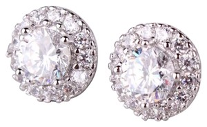 The Perfect White Topaz White Gold Filled Stud Earrings