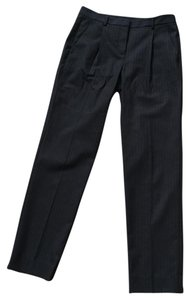 Theory Stretch Wool Pinstriped Trouser Pants navy