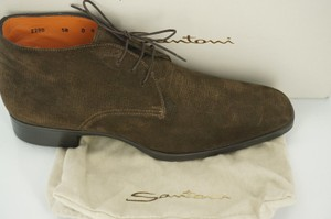 Santoni Andale Chukka Boot Mens Suede Sz 9 Tie Up Dress Shoes 595