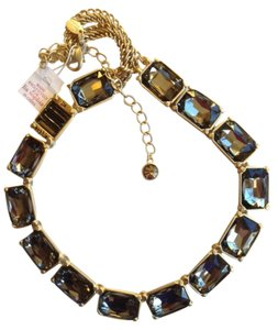 Lia Sophia LIA SOPHIA Black Diamond VERSAILLES Statement NECKLACE 18