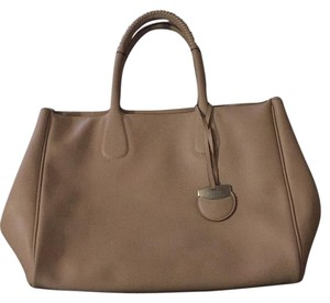 Salvatore Ferragamo Leather Tote in Beige