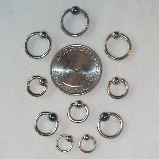 Other Captive Bead Ring CBR x10 Various Sizes