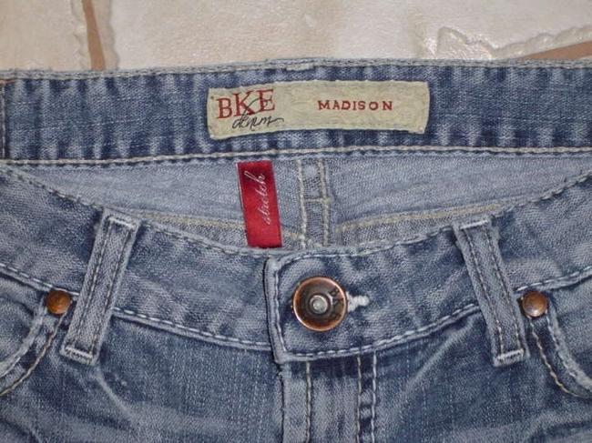 BKE Distressed Ultra Low Rise Like Comfortable Madison Stretch Boot Cut Jeans-Distressed