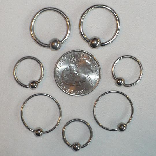 Other Captive Bead Ring CBR x7 Various Sizes