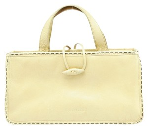 Cole Haan Small Leather Tote in Beige