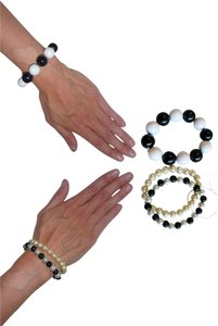 Lot of 3 Spherical Bauble Stretch Bracelets