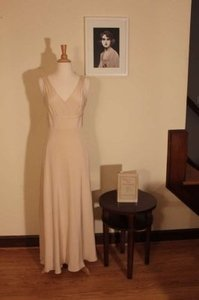 J.Crew Champagne Silk Sophia Gown Formal Bridesmaid/Mob Dress Size 2 (XS)