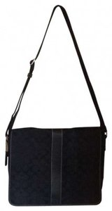 Coach Monogram Vintage Utilitarian Black Messenger Bag