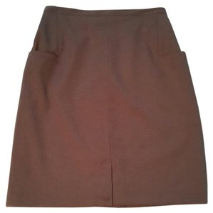 Harvé Benard Fully Lined Pockets Skirt brown
