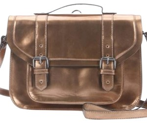 BCBGeneration Gold Metallic Messenger Bag