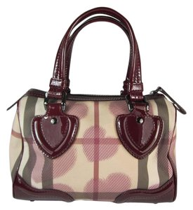Burberry Leather Bowling Chester Nova Satchel