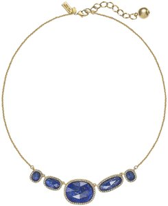 Kate Spade Gold-Plated Pave Stone Frontal Necklace