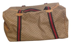 Gucci Brown with logo Travel Bag