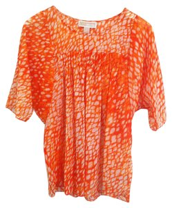 Michael Kors Top Orange White